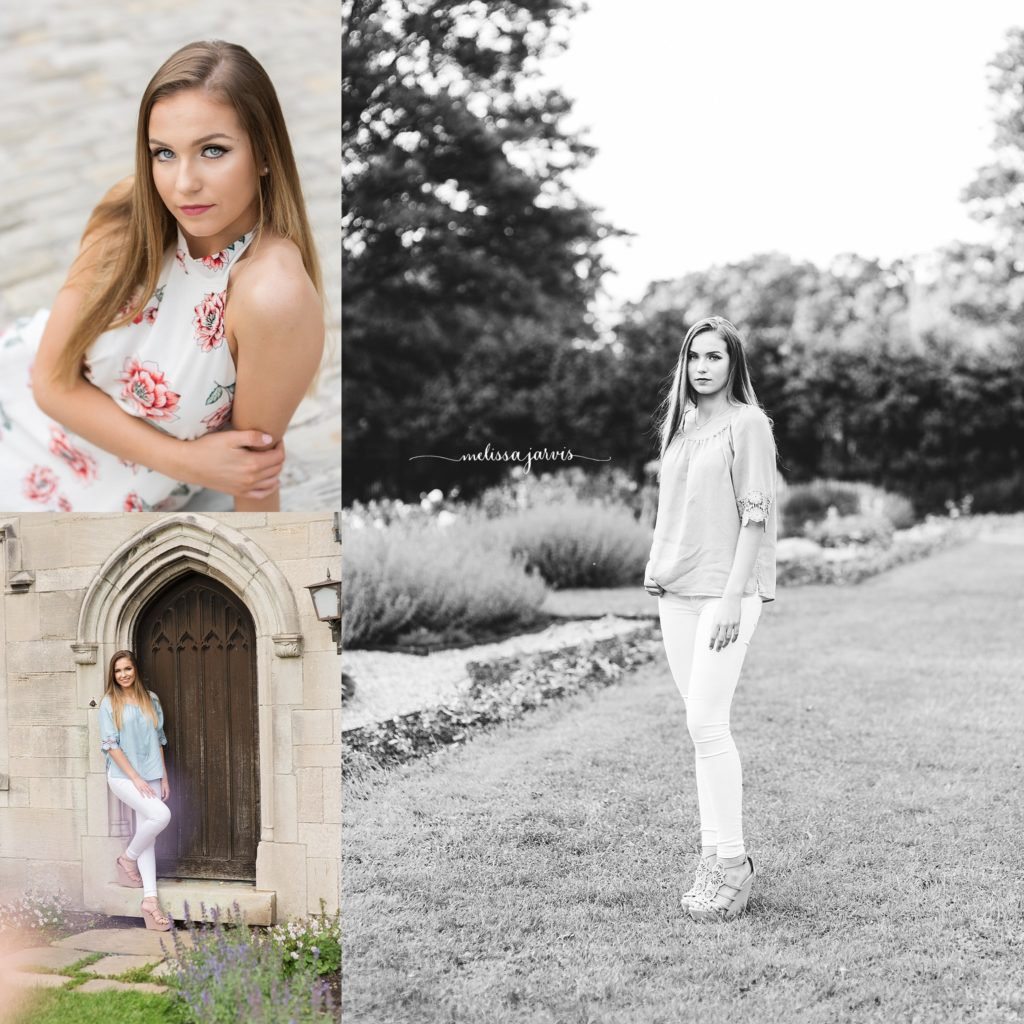 high school senior poses for senior pictures in wexford pa