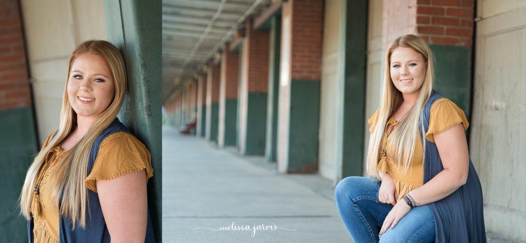 Senior Girl takes photos in urban area of Pittsburgh PA