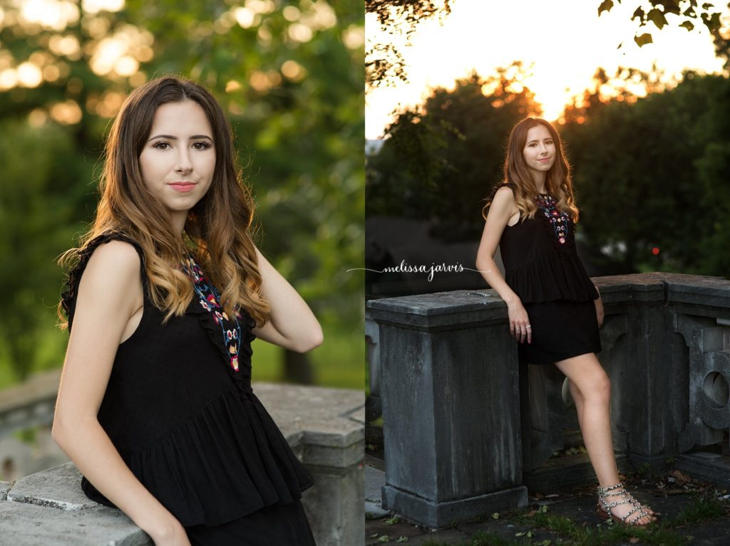 senior girl from shadyside pa sits against brick wall for senior portrait session in Pittsburgh PA