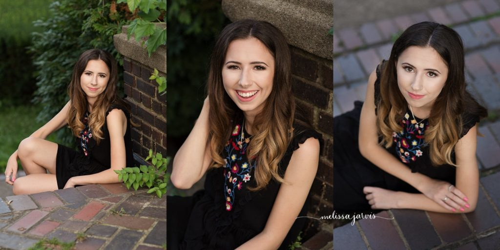 senior girl from shadyside pa stands in golden hour light for senior portrait session in Pittsburgh PA