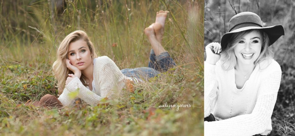 senior girl from ben avon heights pa sits in field of tall grasses for senior portrait session in Pittsburgh PA